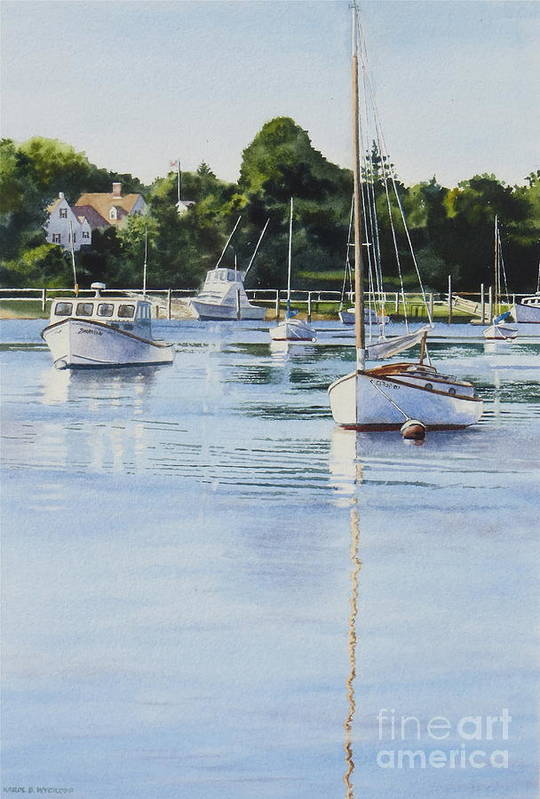 Sailboats Print featuring the painting Summer's Eve by Karol Wyckoff