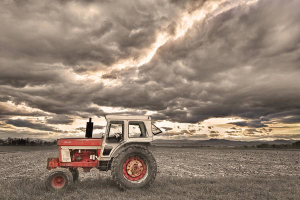 Farming Print featuring the photograph Superman Sepia Skies by James BO Insogna