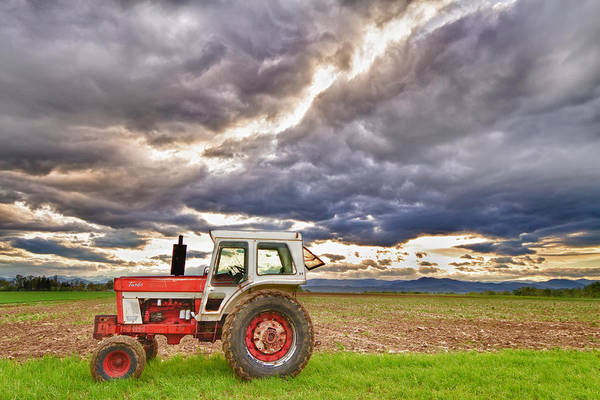 Farming Print featuring the photograph Superman Skies by James BO Insogna