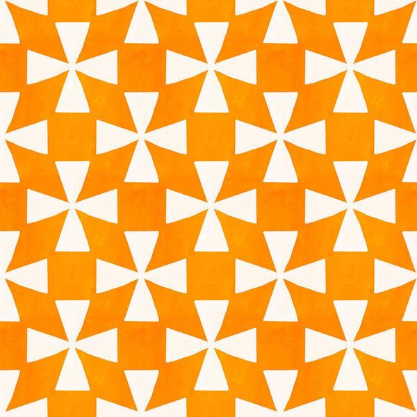 Orange Print featuring the painting Tangerine Twirl by Linda Woods