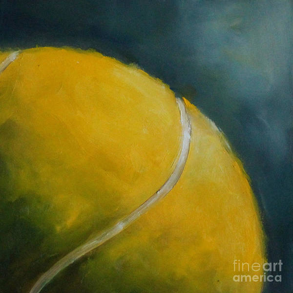Kristine Kainer Print featuring the painting Tennis Ball by Kristine Kainer