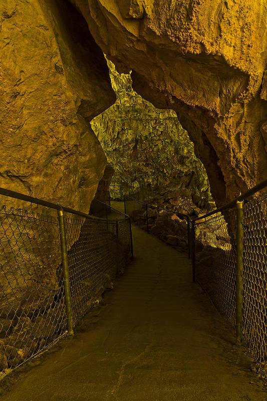 Grand Canyon Caverns Print featuring the photograph The Adventure Awaits by Kenan Sipilovic