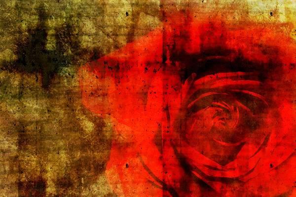 Brett Print featuring the digital art The Allure Of A Rose by Brett Pfister