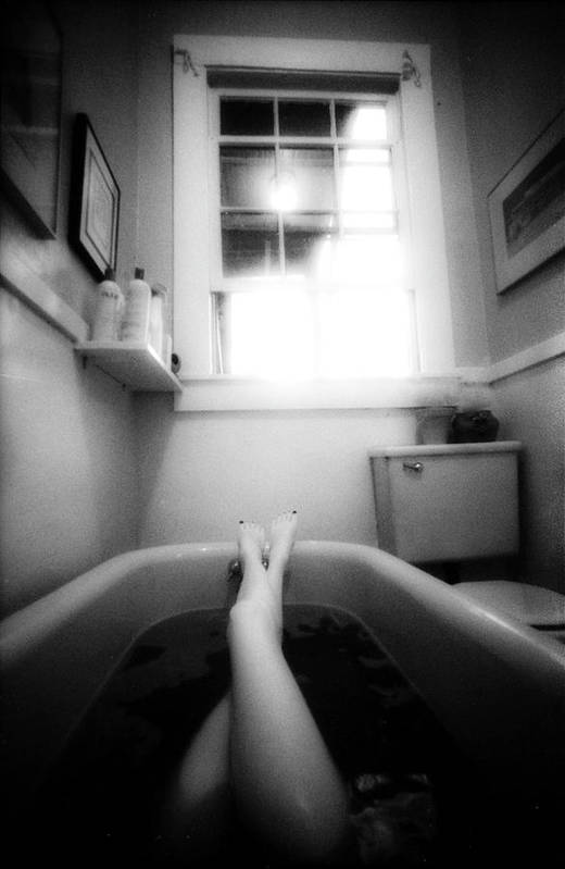 Nude Print featuring the photograph The Bath by Lindsay Garrett