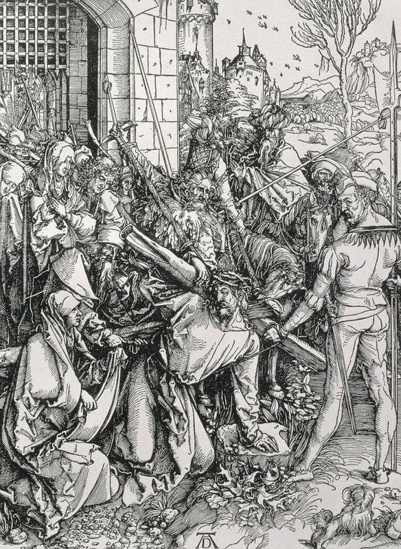 Print Print featuring the painting The Bearing Of The Cross From The 'great Passion' Series by Albrecht Duerer