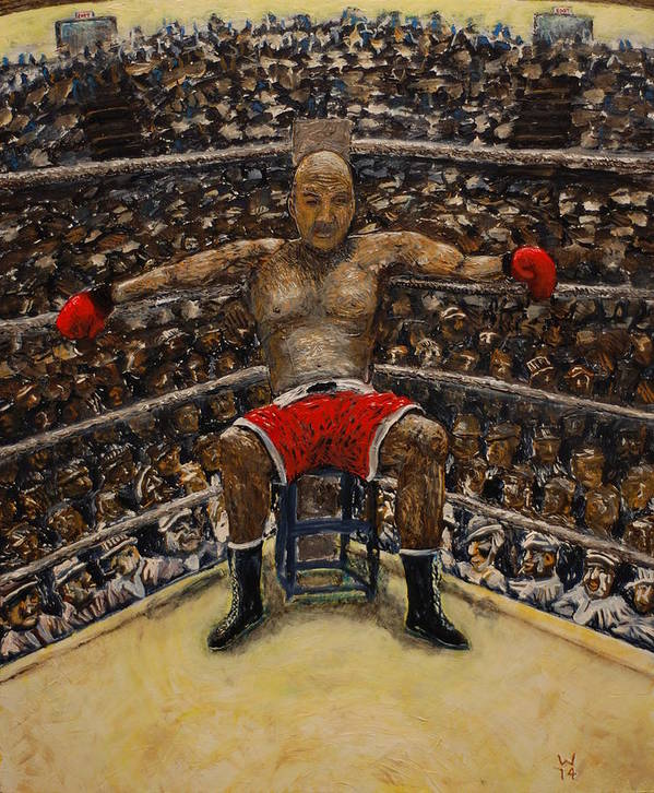 Boxer Print featuring the painting The Boxer by Richard Wandell