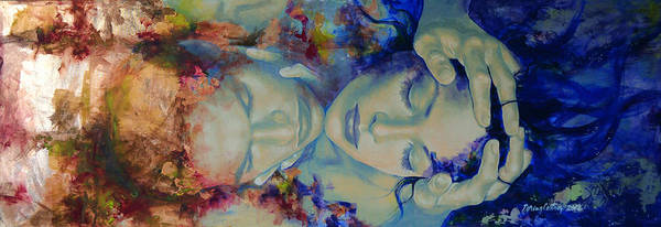 Love Print featuring the painting The Celestial Consonance by Dorina Costras