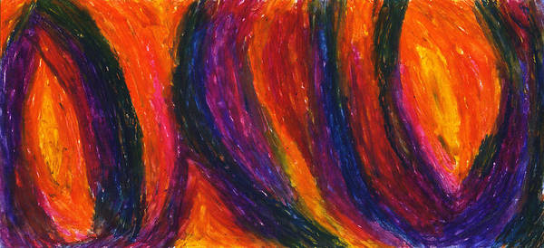 Abstract Print featuring the drawing The Divine Fire by Daina White