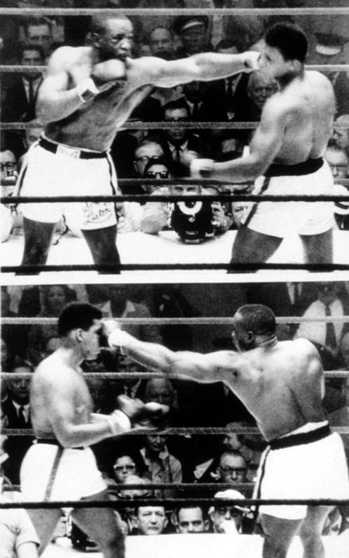 Ali Print featuring the photograph The First Sonny Liston Vs. Cassius Clay by Everett