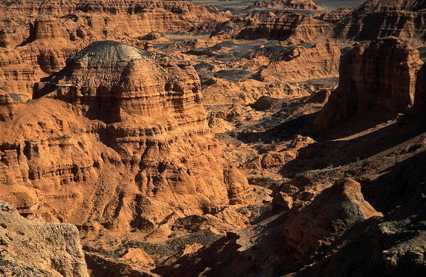 Asia; Asian; Central Asia; Desert; Deserts; Landscape; Nature; Nobody; Outdoors; Outside; Rocks; Rocky; Sandy Desert Print featuring the photograph The Gobi by Anonymous