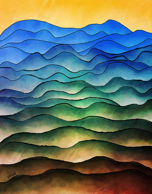 Hill Print featuring the painting The Hills Are Alive by Brenda Bryant