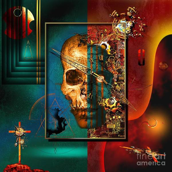Highly Imaginative Print featuring the digital art The Inconceivability Of The Being by Franziskus Pfleghart