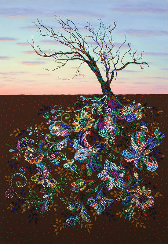 Tree Print featuring the painting The Journey by James W Johnson