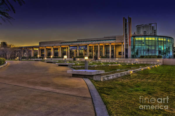 Theater Print featuring the photograph The Mahaffey Theater by Marvin Spates
