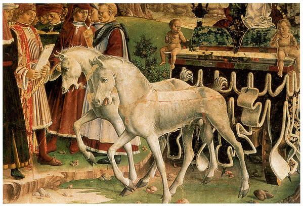 Francesco Del Cossa Print featuring the painting The Month Of March by Francesco Del Cossa