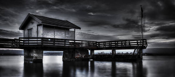 Nature Print featuring the photograph The Old Boat House by Erik Brede