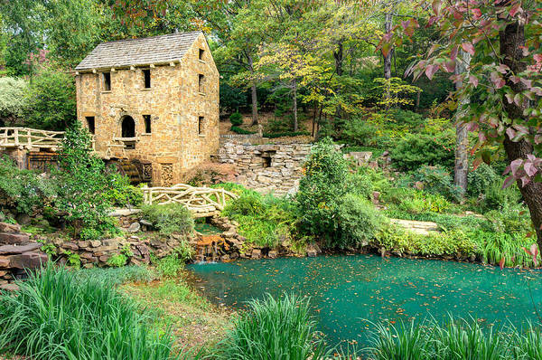 Old Mill Print featuring the photograph The Old Mill - North Little Rock - Pugh's Mill 1832 by Gregory Ballos