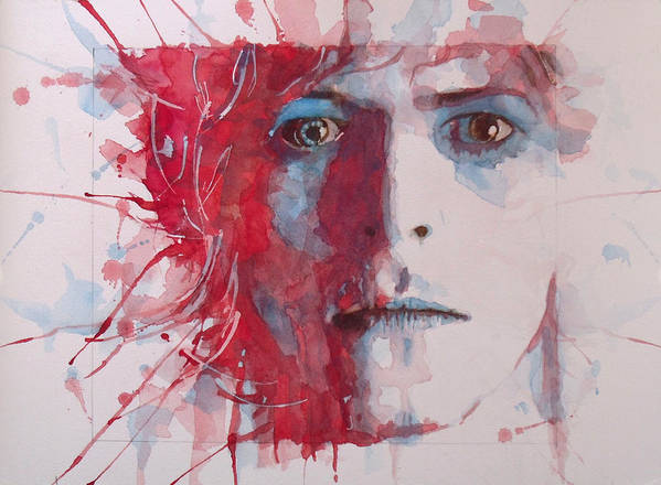 David Bowie Print featuring the painting The Prettiest Star by Paul Lovering