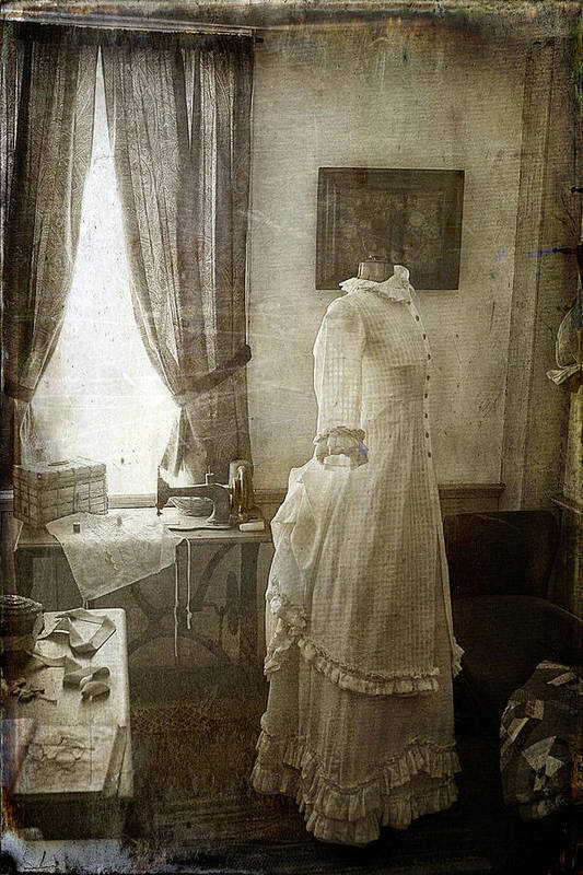 Cindi Ressler Print featuring the photograph The Sewing Room by Cindi Ressler