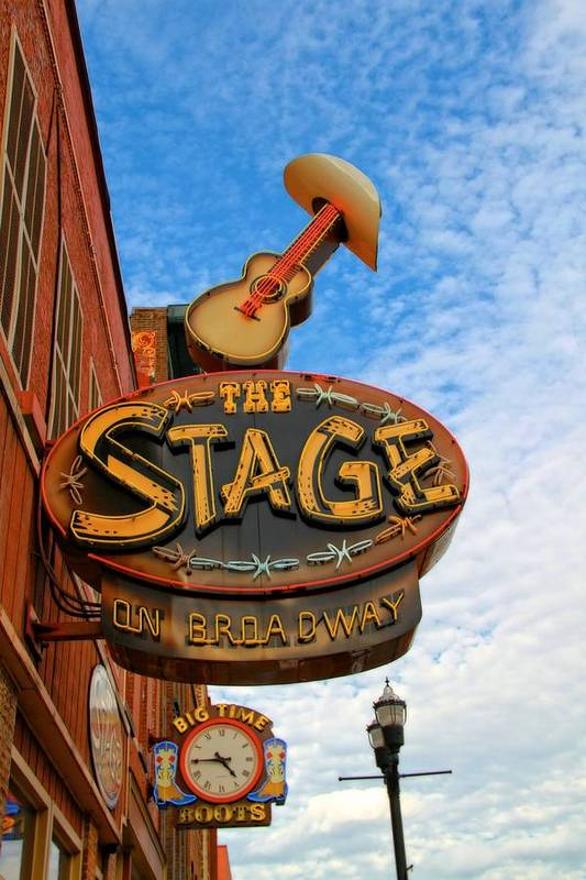 The Stage On Broadway Print featuring the photograph The Stage On Broadway by Dan Sproul