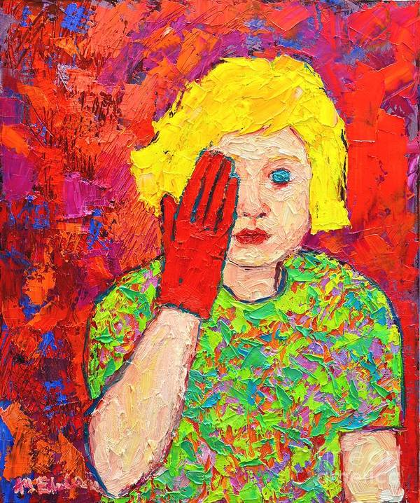 Girl Print featuring the painting There's No Comfort In The Truth by Ana Maria Edulescu
