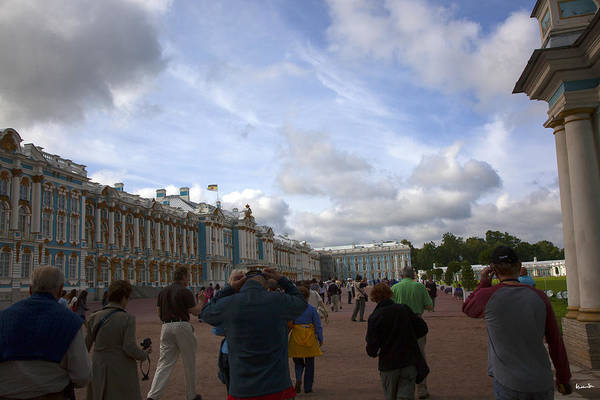 Catherine Palace Print featuring the photograph They Come To Catherine Palace - St. Petersburg - Russia by Madeline Ellis