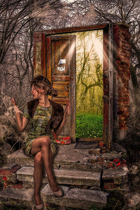 Art Print featuring the photograph Through The Forest Door by Erik Brede
