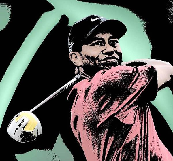 Tiger Woods Print featuring the digital art Tiger Woods by Tanysha Bennett-Wilson