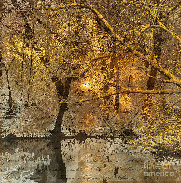 Print featuring the mixed media Time II by Yanni Theodorou
