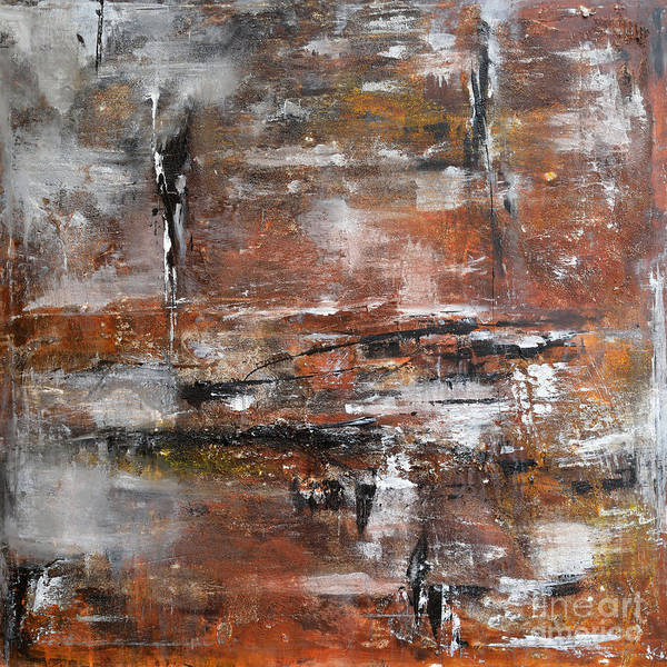 Acrylic Painting Print featuring the painting Timeless - Abstract Painting by Ismeta Gruenwald