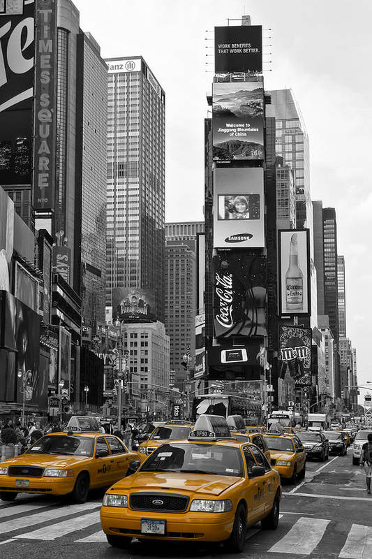Manhattan Print featuring the photograph Times Square Nyc by Melanie Viola