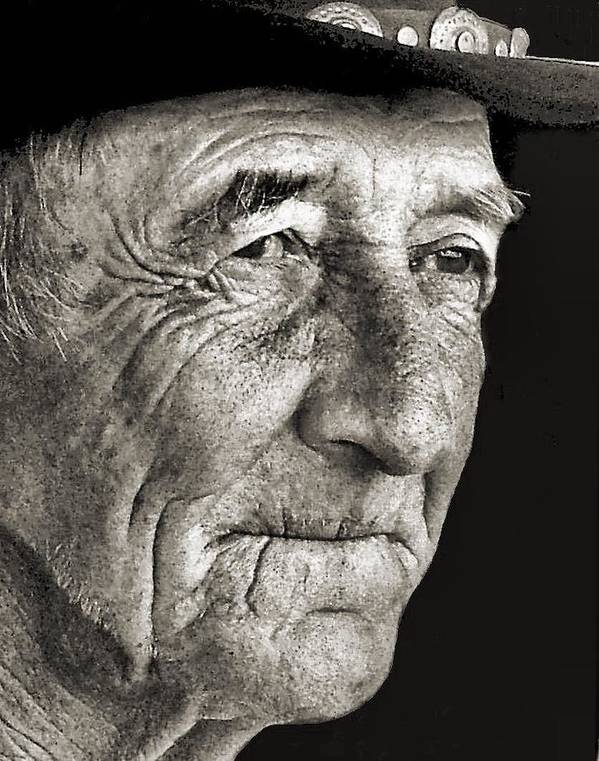 Old Man Print featuring the photograph Tom Mccorkel by Julie Dant