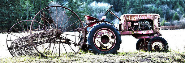 Tractor Print featuring the photograph Tractor Hdr by Graham Foulkes