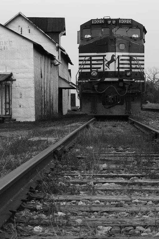 Train Print featuring the photograph Train 9020 by Jerry Mann