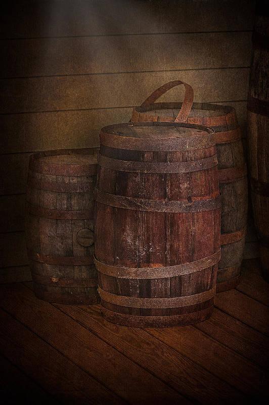 Susan Candelario Print featuring the photograph Triple Barrels by Susan Candelario