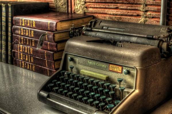 Typewriter Print featuring the photograph Typewriter by David Morefield