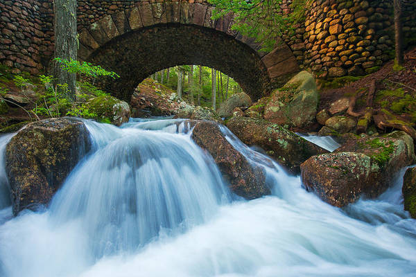 Jordan Stream Print featuring the photograph Under The Bridge by Joseph Rossbach