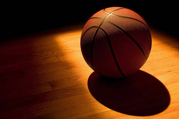 Basketball Print featuring the photograph Under The Lights by Andrew Soundarajan