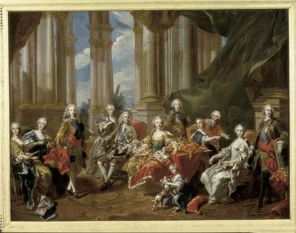Horizontal Print featuring the photograph Van Loo, Louis Michel 1707-1771. Philip by Everett