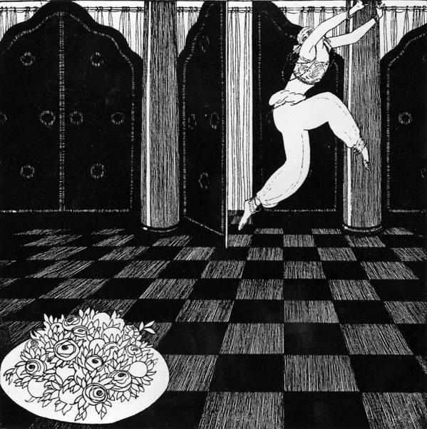 Ballet Print featuring the painting Vaslav Nijinsky In Scheherazade by Georges Barbier