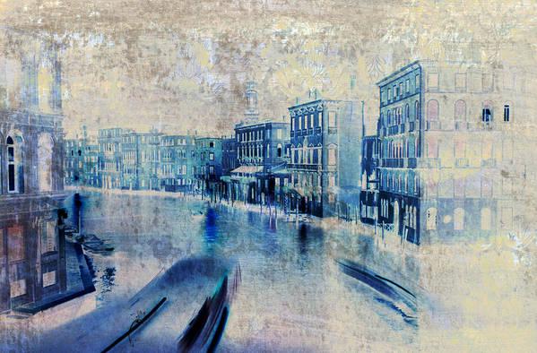 Frank Tschakert Print featuring the painting Venice Canal Grande by Frank Tschakert