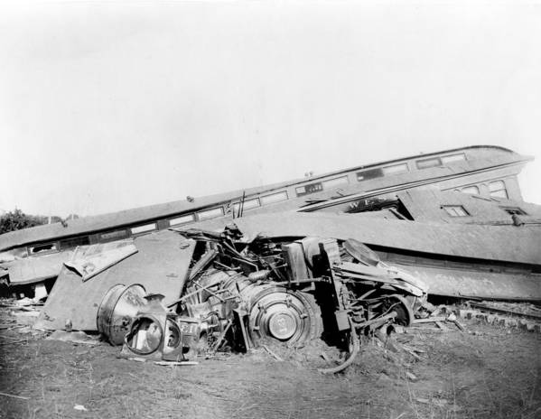 1880s Print featuring the photograph View Of The Great Railroad Wreck by Everett