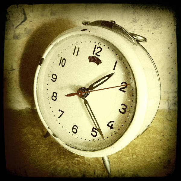 Sepia Print featuring the photograph Vintage Clock by Les Cunliffe