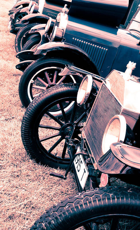 Ford Model T Print featuring the photograph Vintage Fords by Phil 'motography' Clark