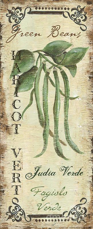 Kitchen Print featuring the painting Vintage Vegetables 2 by Debbie DeWitt