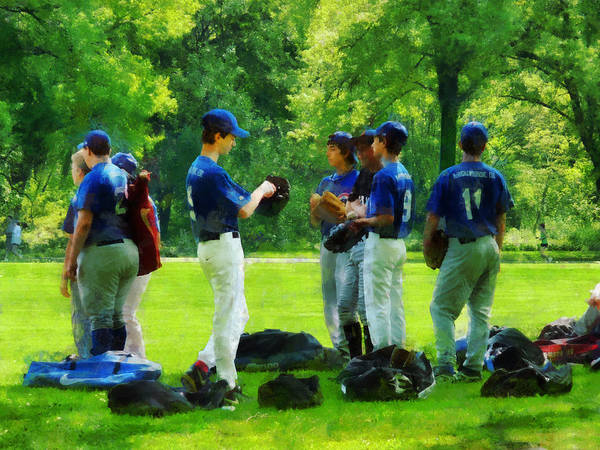 Baseball Print featuring the photograph Waiting To Go To Bat by Susan Savad