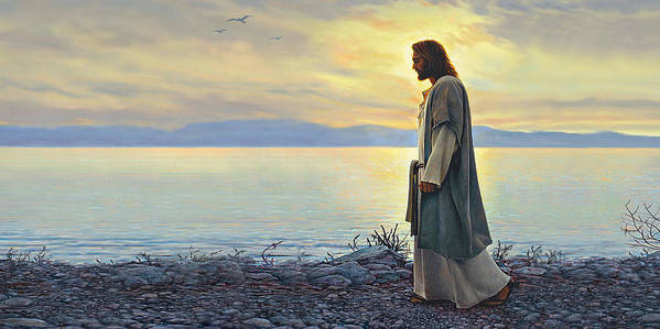 Jesus Print featuring the painting Walk With Me by Greg Olsen