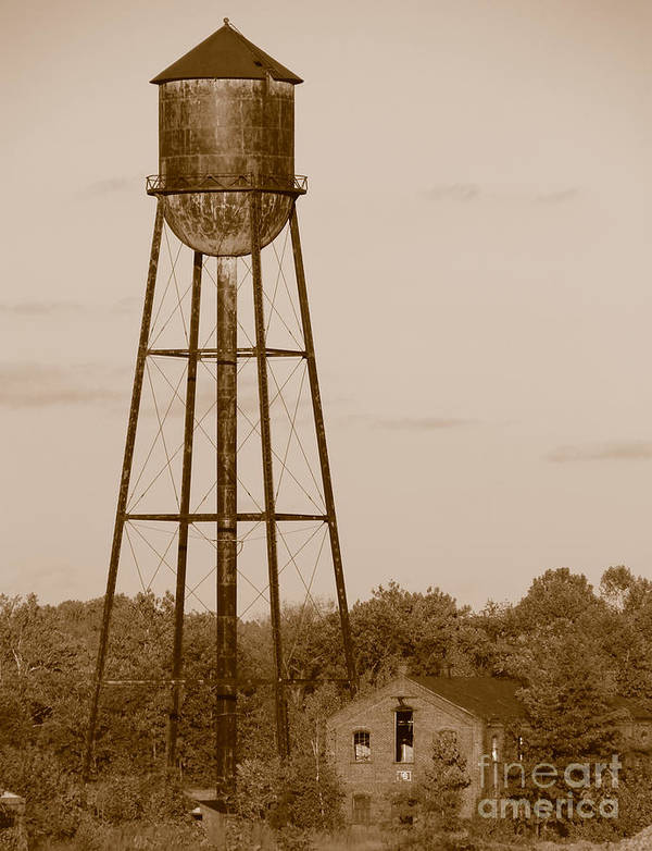 Tower Print featuring the photograph Water Tower by Olivier Le Queinec