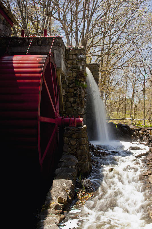 Wayside Grist Mill Print featuring the photograph Wayside Grist Mill 2 by Dennis Coates