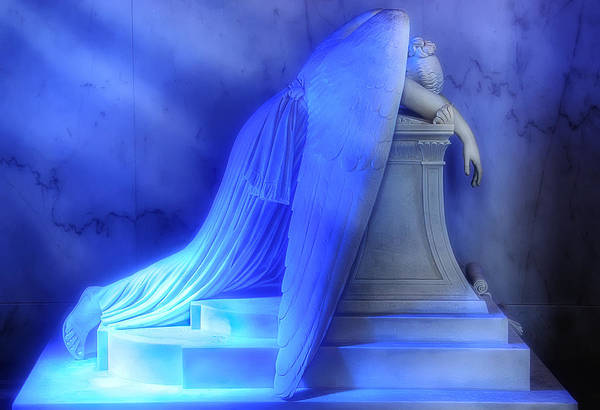New Orleans Print featuring the photograph Weeping Angel by Don Lovett